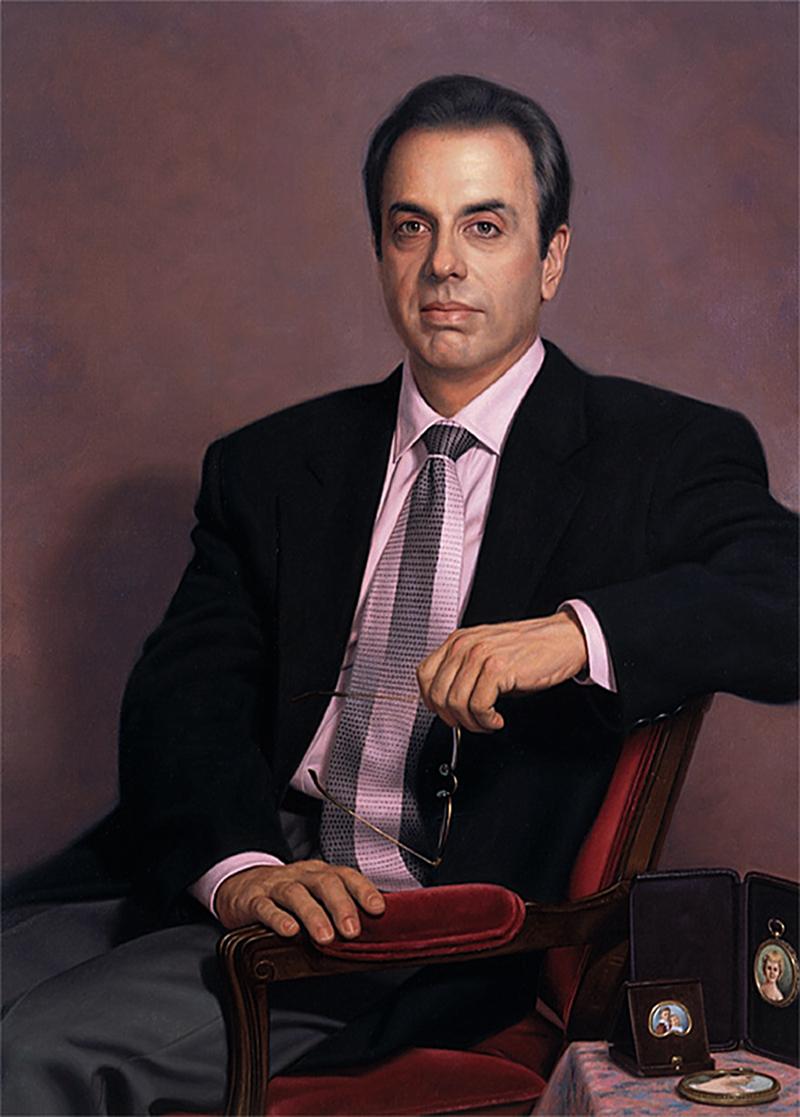 портрет мужской графия